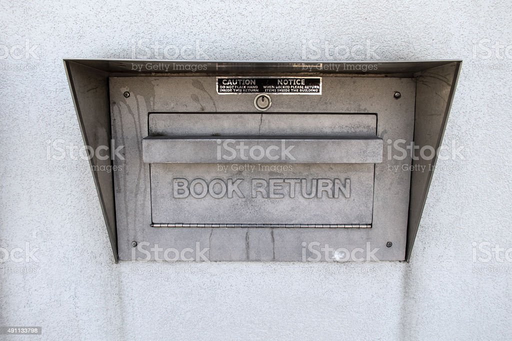 Library Book Return stock photo