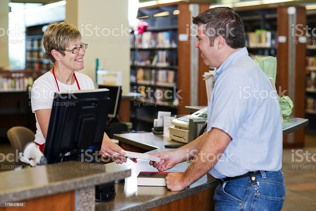 Library Checkout stock photo