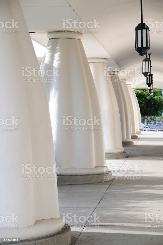 Library Columns stock photo