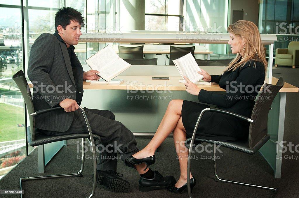 Library Flirting royalty-free stock photo