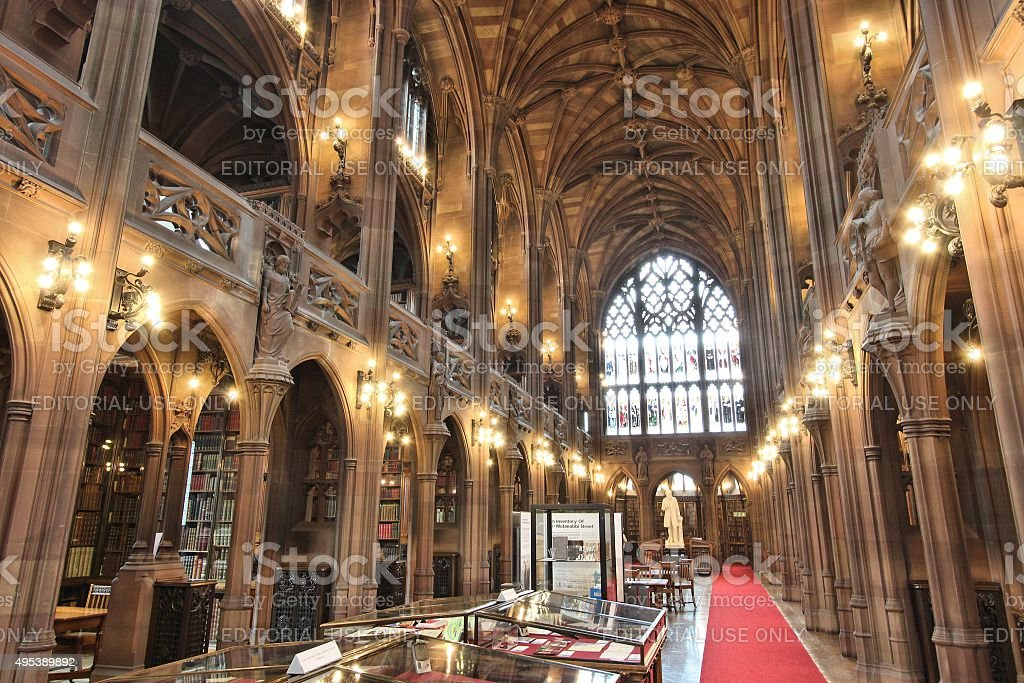 Library in Manchester stock photo