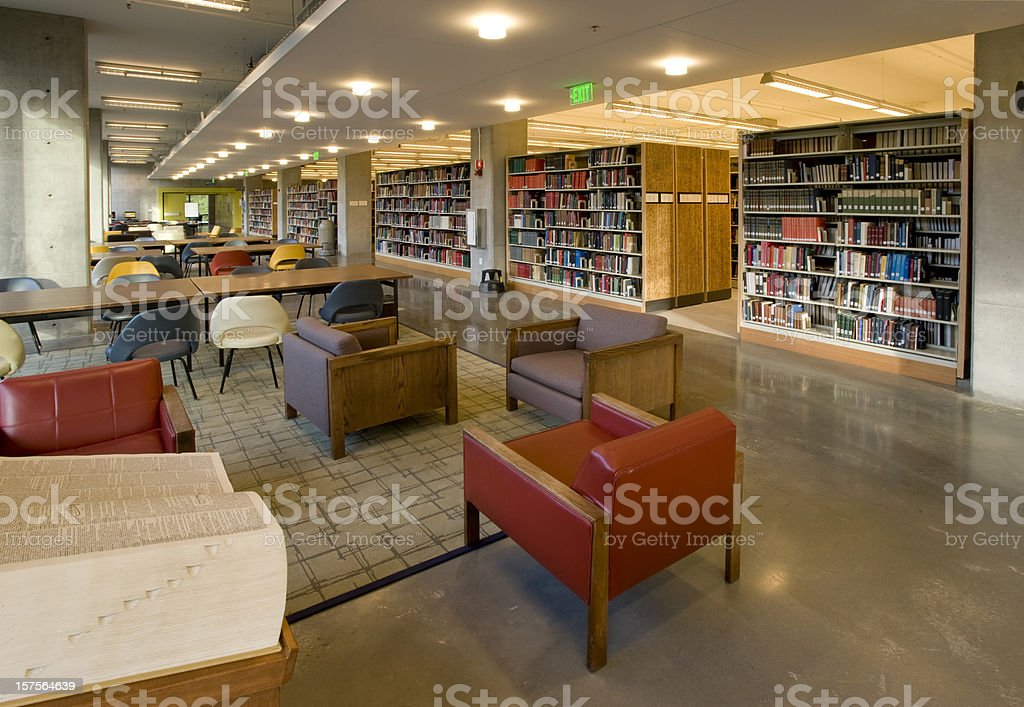 Library Interior royalty-free stock photo
