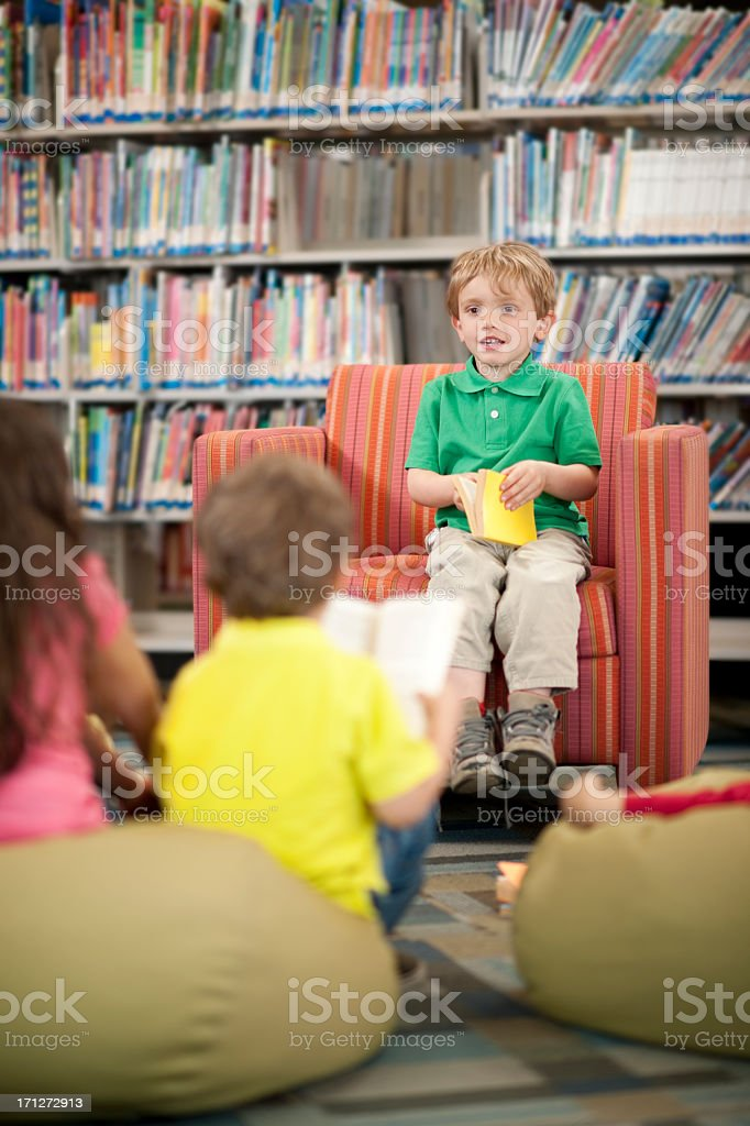 Library kids royalty-free stock photo