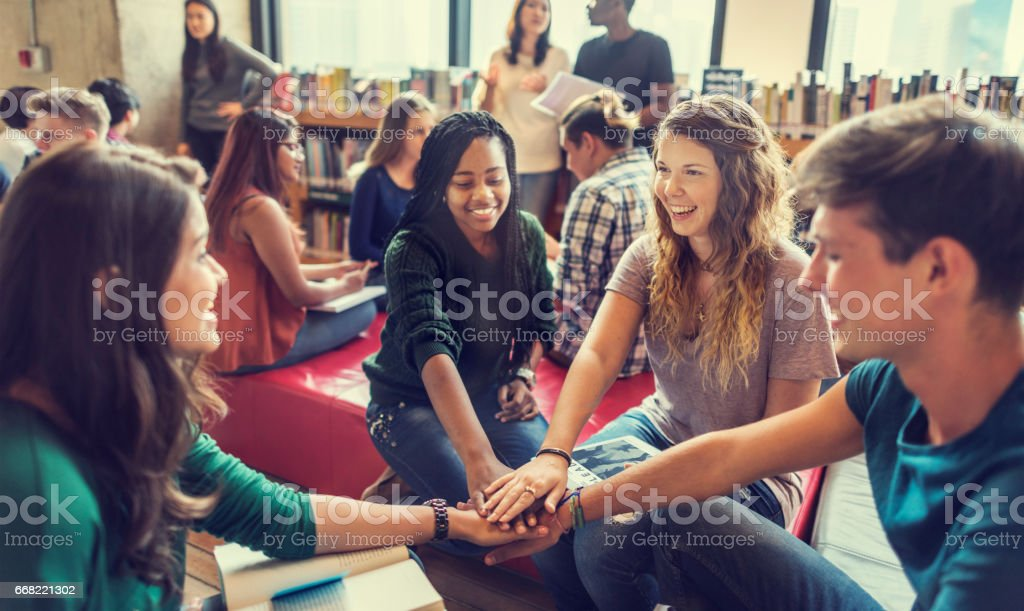 Library Knowledge Information Intelligence Concept stock photo