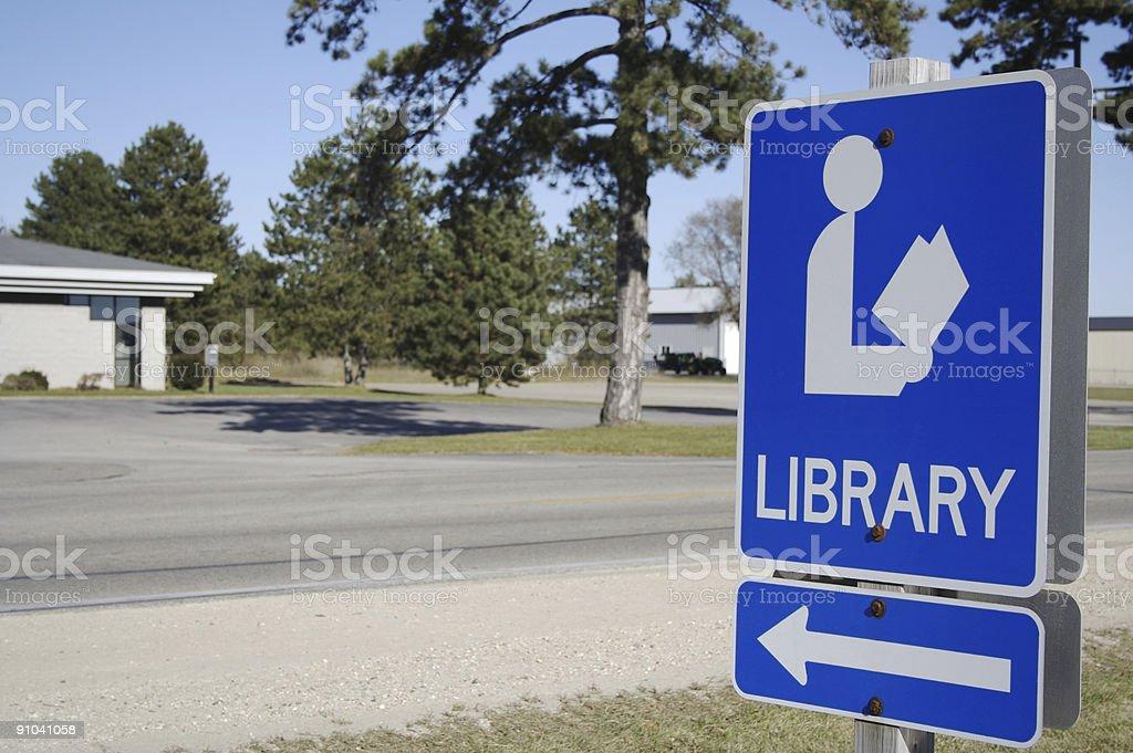 Library Left stock photo