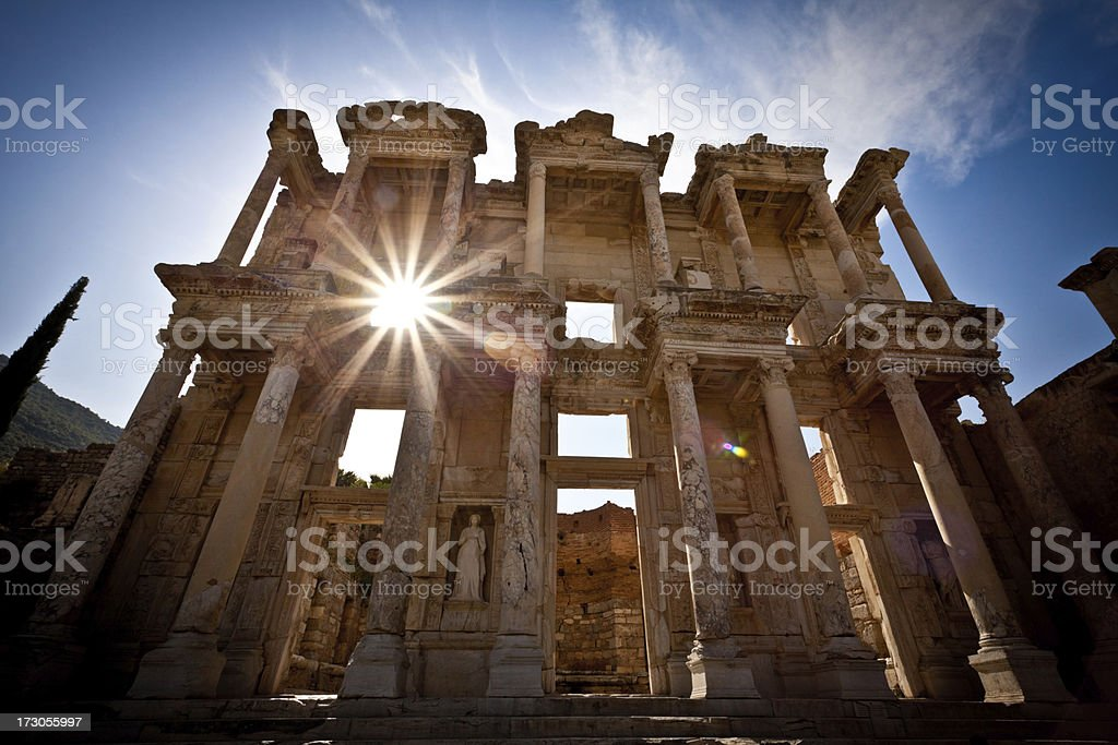 Library of Celcus, Ephesus, Turkey stock photo