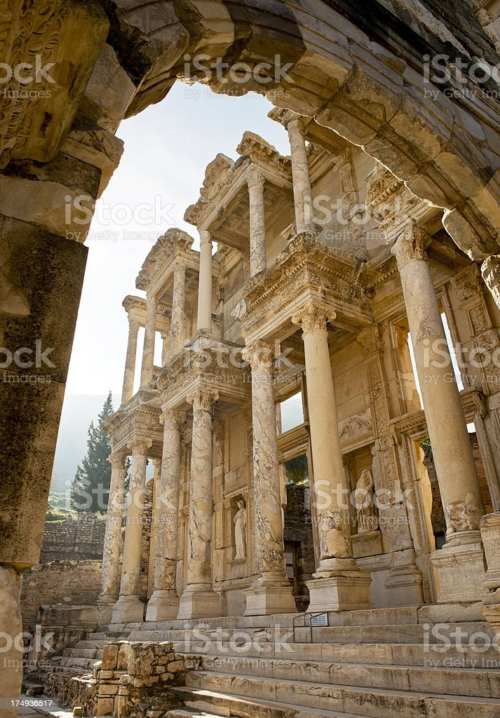 Library of Celsius, Ephesus royalty-free stock photo