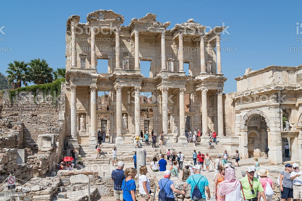 Library of Celsus, Ephesus, Kusadasi Turkey stock photo