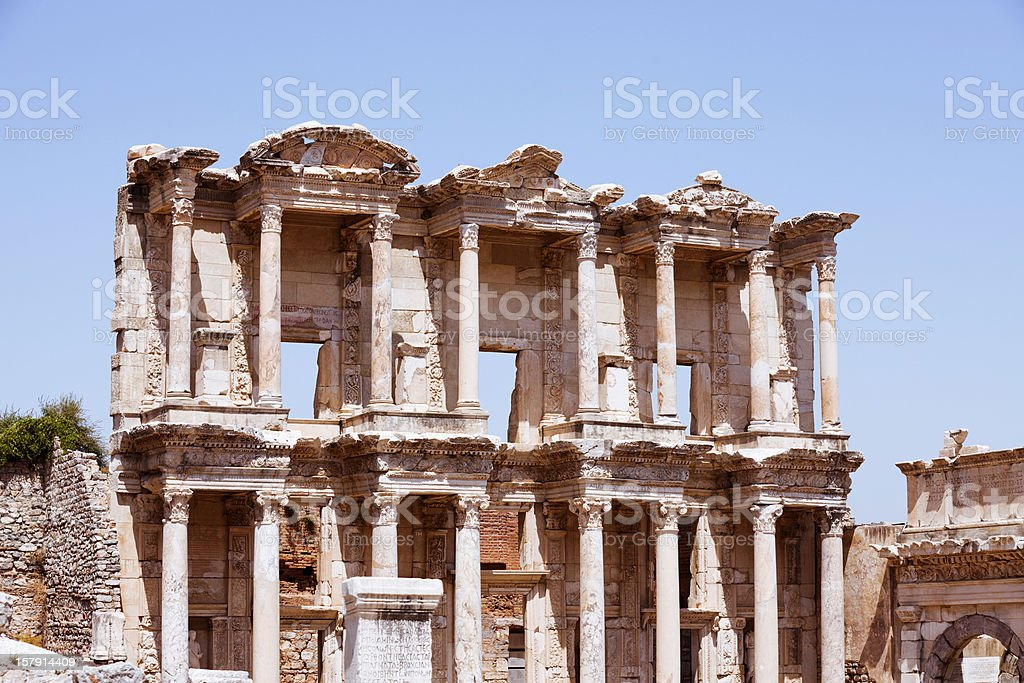 Library of Celsus - Ephesus royalty-free stock photo