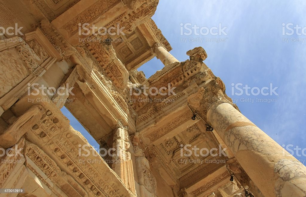 Library of Celsus, Ephesus royalty-free stock photo
