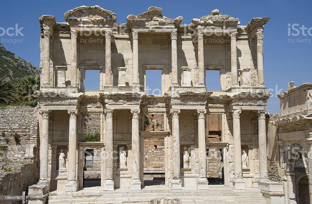 Library of Celsus, Ephesus, Turkey stock photo