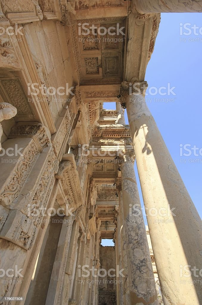 Library of Celsus, Ephesus, Turkey. royalty-free stock photo