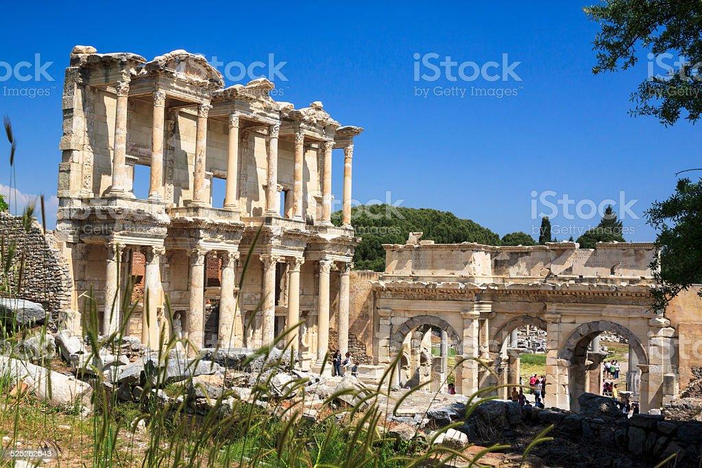 Library of Celsus in Ephesus, Smyrna, Turkey stock photo