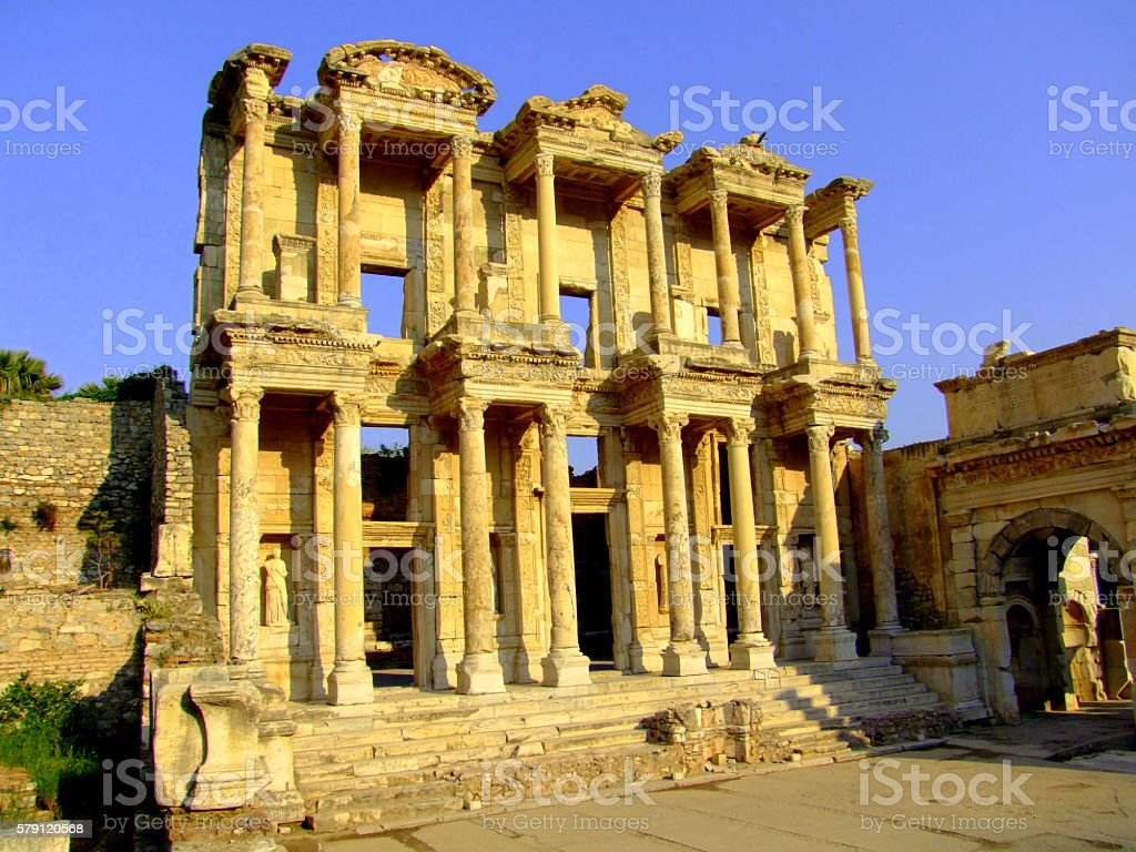 Library of Celsus, Roman Empire, Ephesus, Turkey stock photo