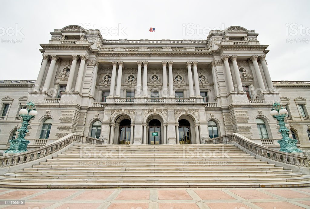 Library of Congress building royalty-free stock photo