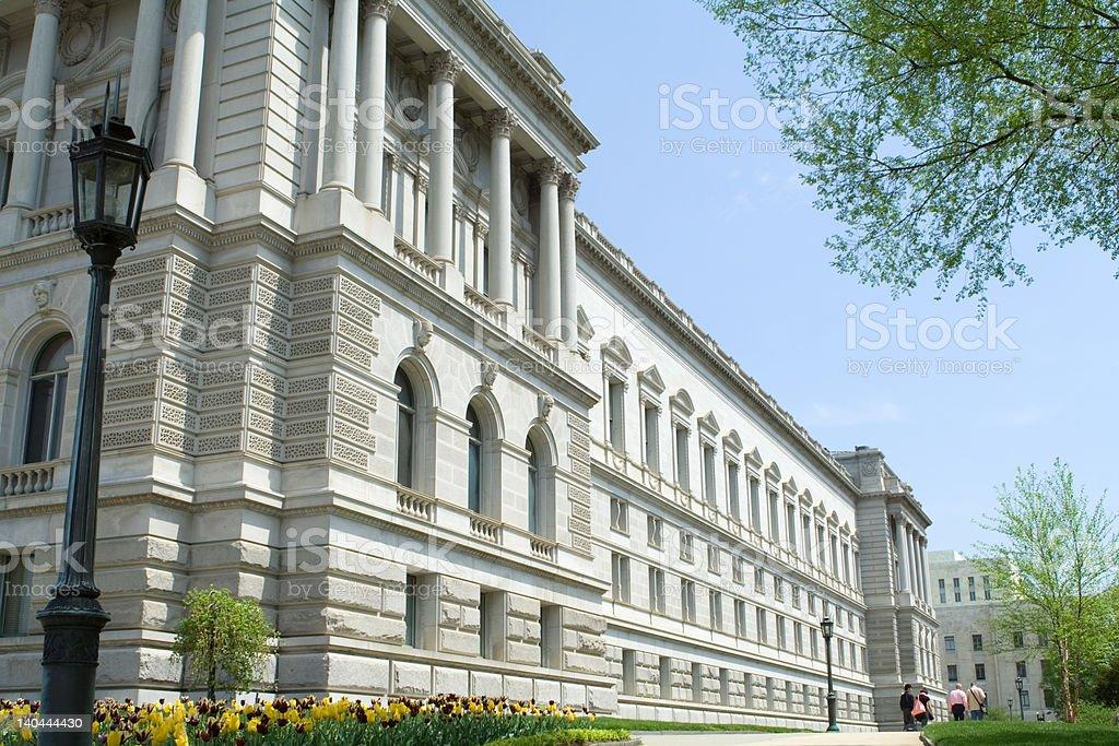 Library of Congress Washington DC Beaux-Arts Architecture, Blue Sky stock photo