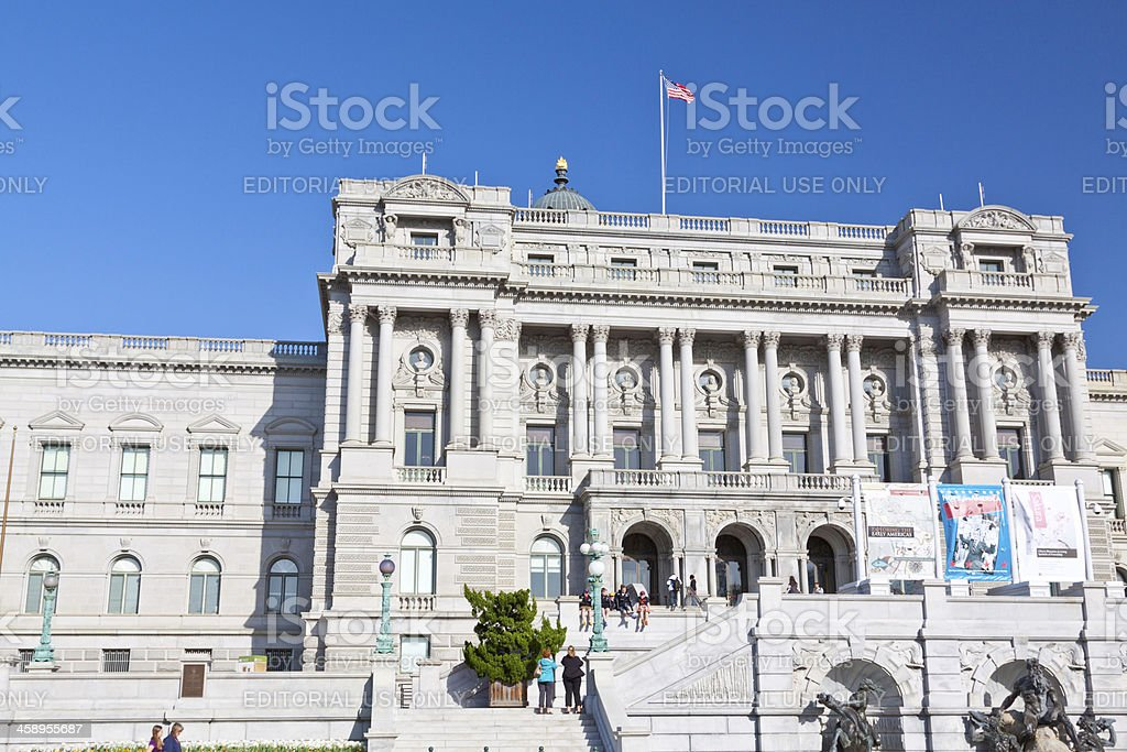 Library of Congress, Washington DC. Clear blue sky. royalty-free stock photo