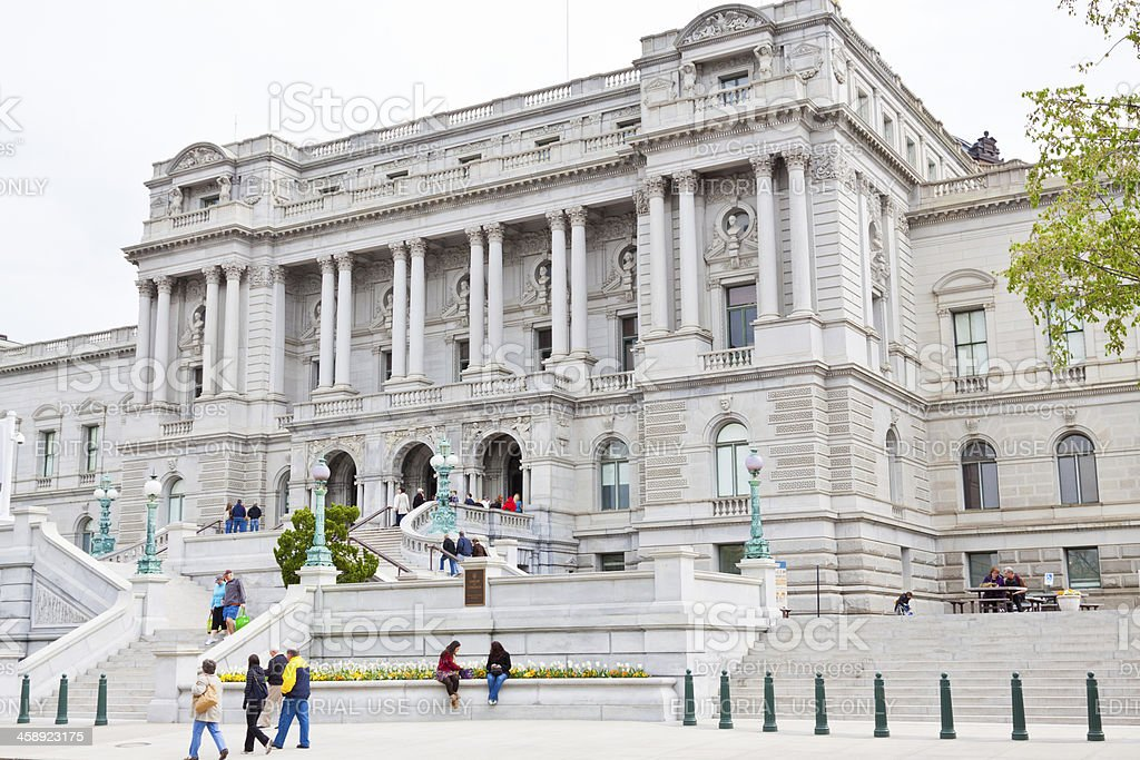 Library of Congress, Washington DC royalty-free stock photo
