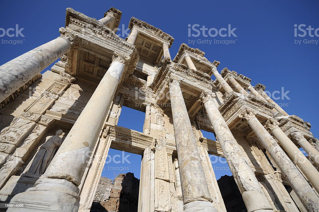Library of Ephesus royalty-free stock photo