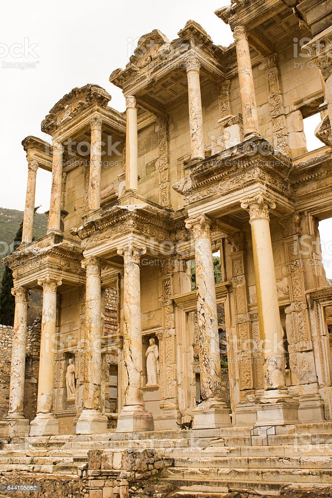 Library of Ephesus stock photo