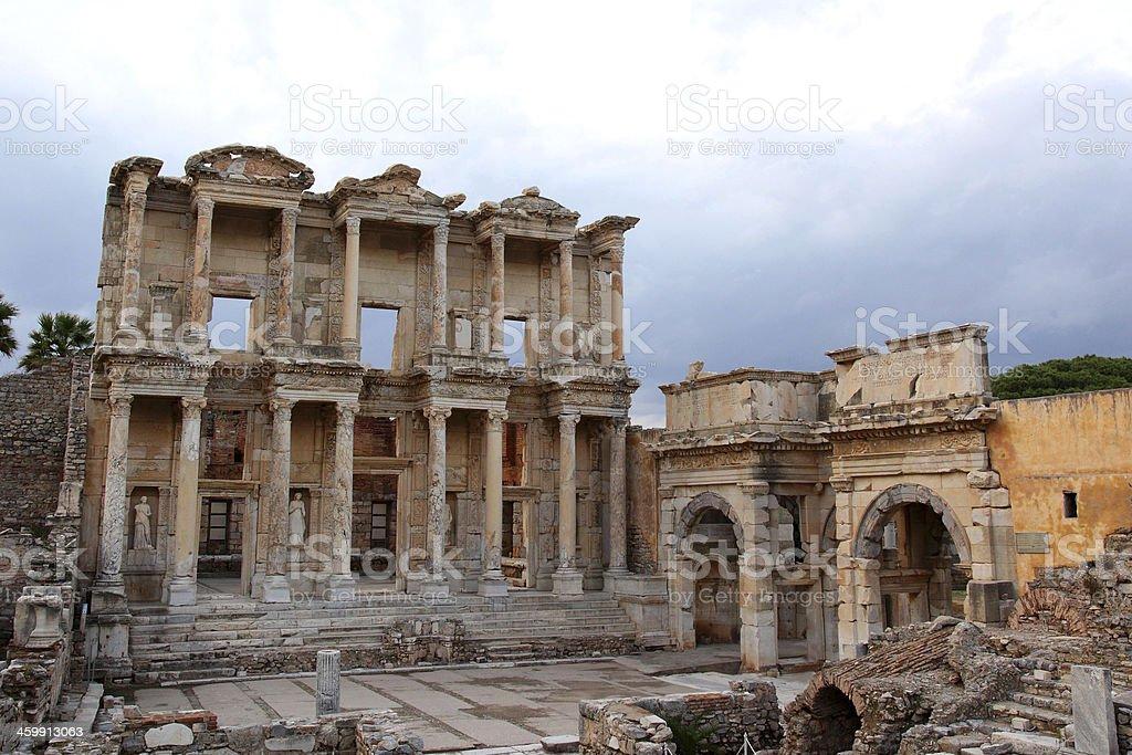 Library of Ephesus Turkey royalty-free stock photo