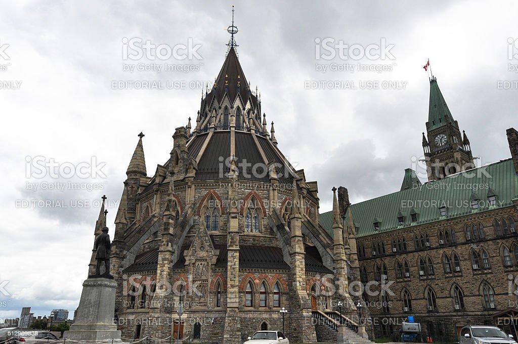Library of Parliament, Ottawa, Canada stock photo