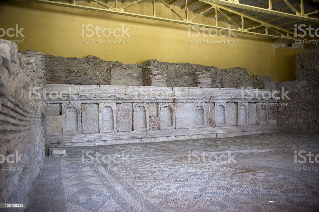 Library of T. Flavius Severianus Neon stock photo