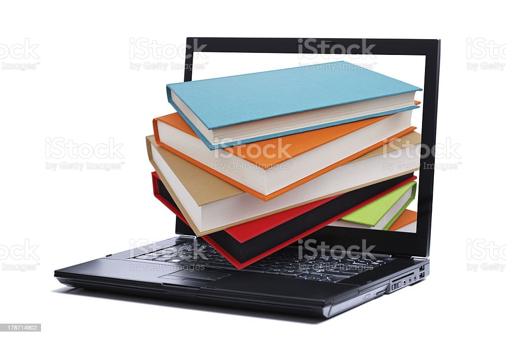 Library on the internet stock photo