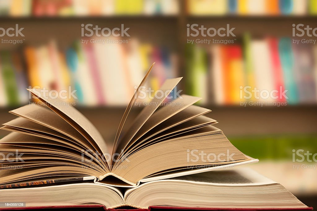 Library ( books ) stock photo