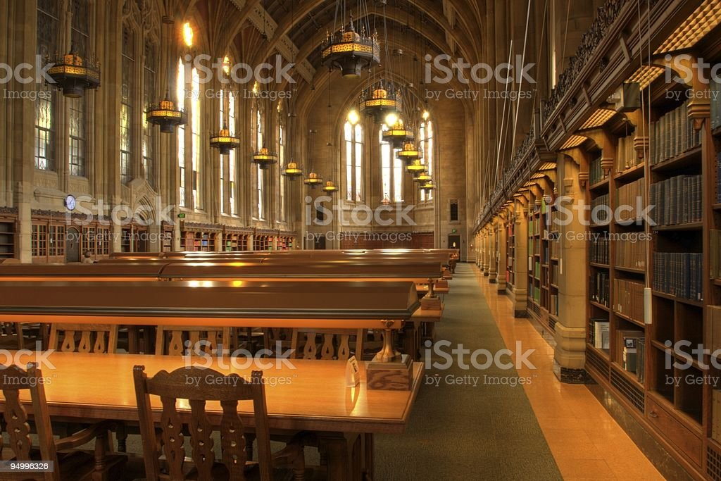 Library Reading Room Tables royalty-free stock photo