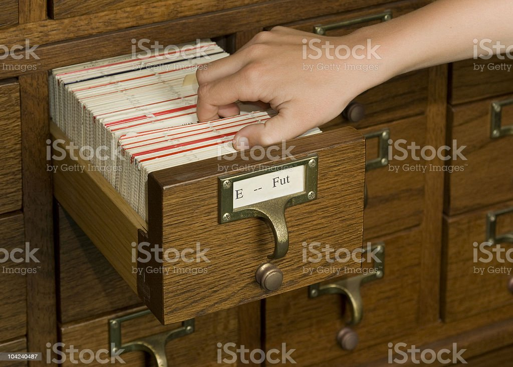 Library Research stock photo