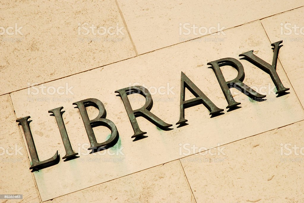 Library sign royalty-free stock photo