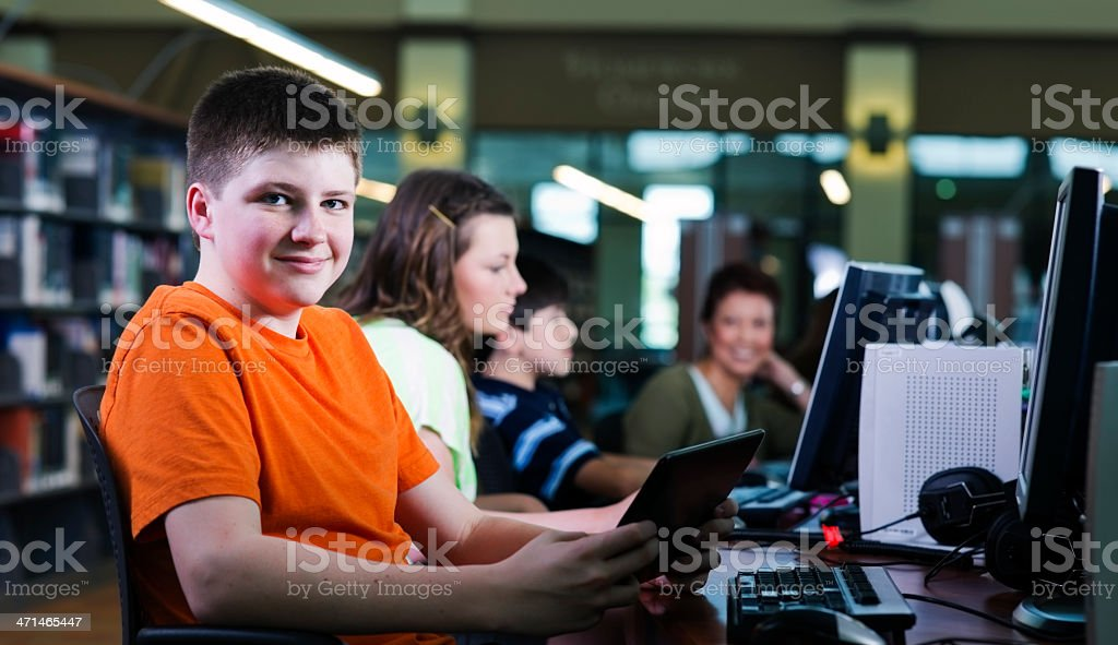 Library Technology stock photo