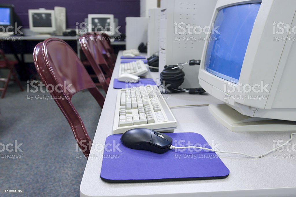 library workstations royalty-free stock photo