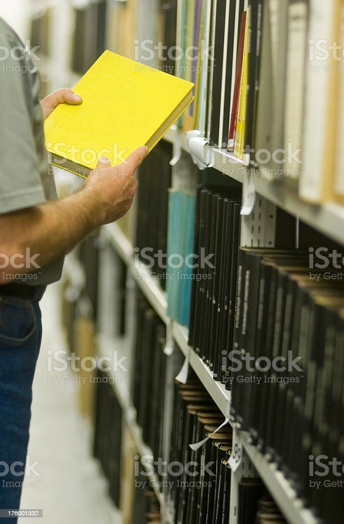 Library - yellow Book I royalty-free stock photo