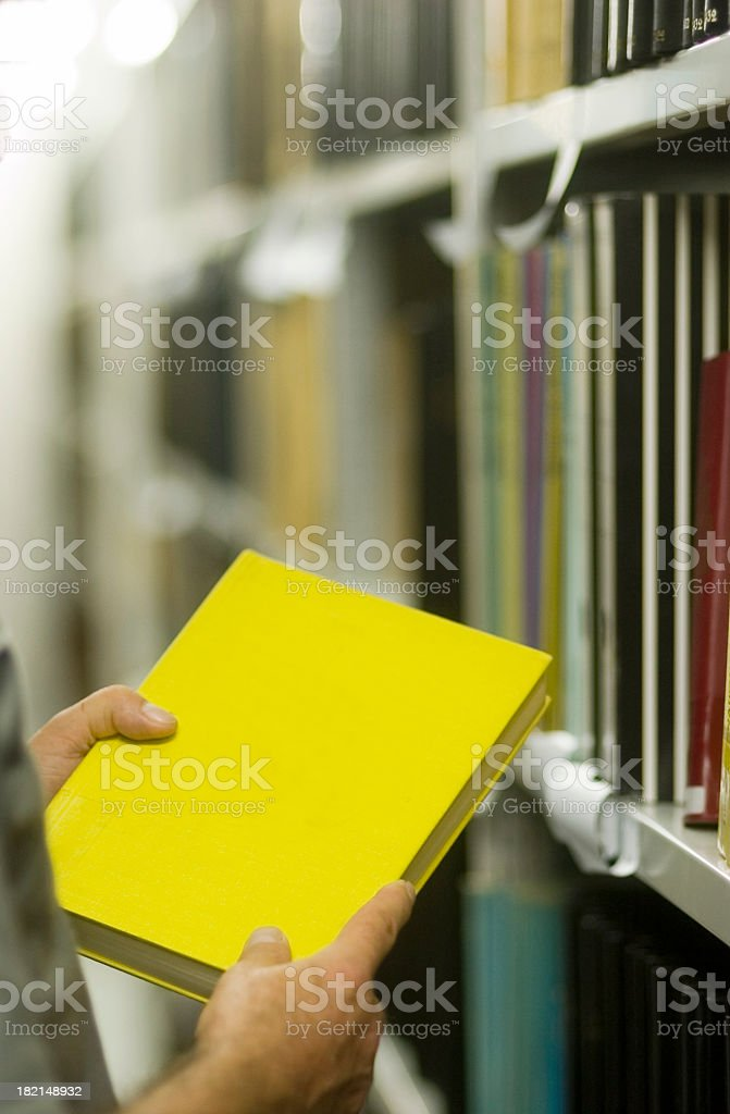 Library - yellow Book II royalty-free stock photo
