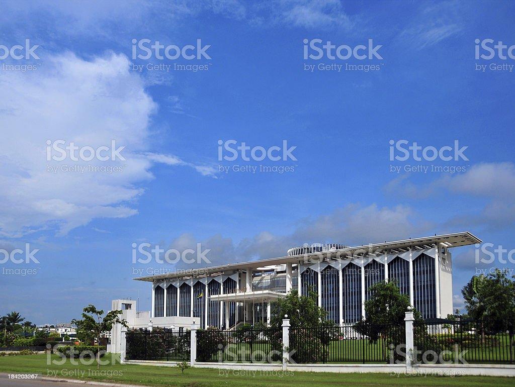 Libreville, Gabon: the Senate building stock photo