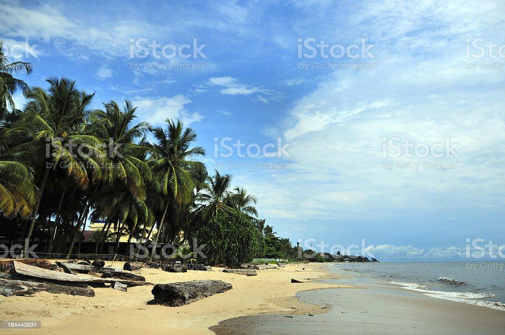 Libreville, Gabon: Tropicana beach stock photo