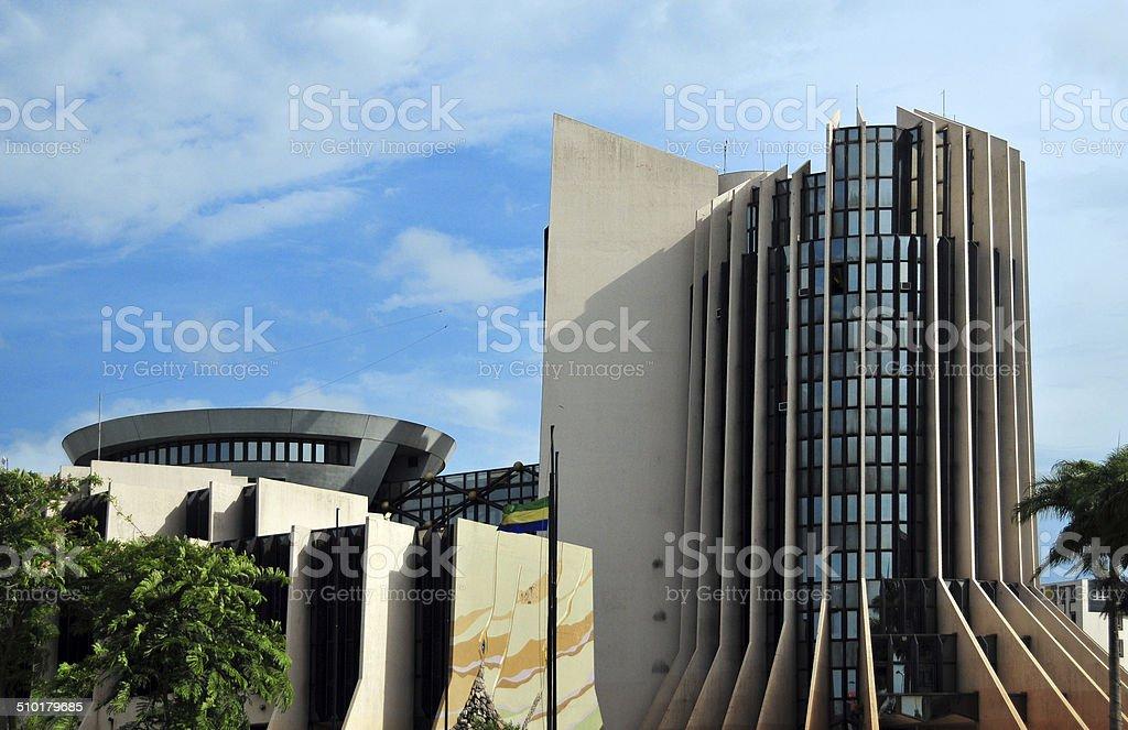 Libreville,Gabon: Oil Ministry stock photo