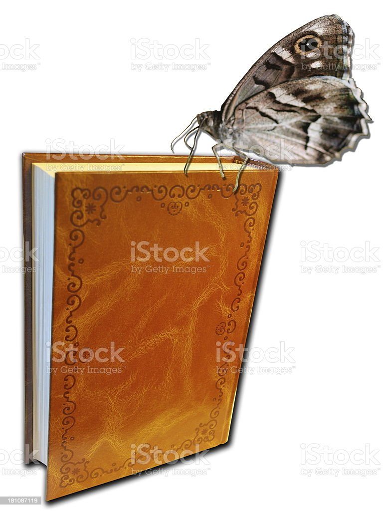 Libro con mariposas royalty-free stock photo