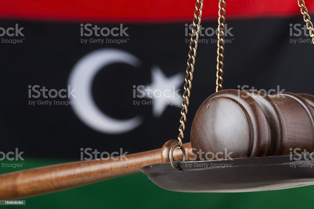 Libya and justice stock photo