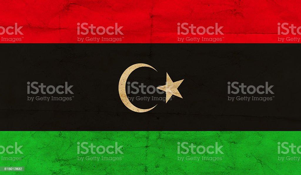 Libya grunge flag stock photo