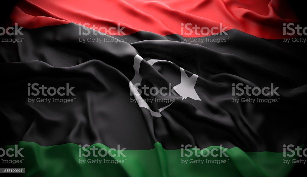 Libya, Tripoli national official state flag stock photo