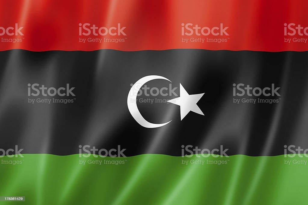 Libyan flag royalty-free stock photo