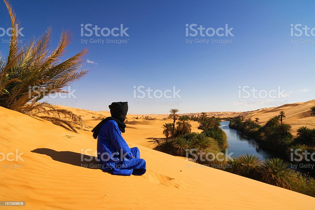 Oase Libya - Mandara Lakes stock photo