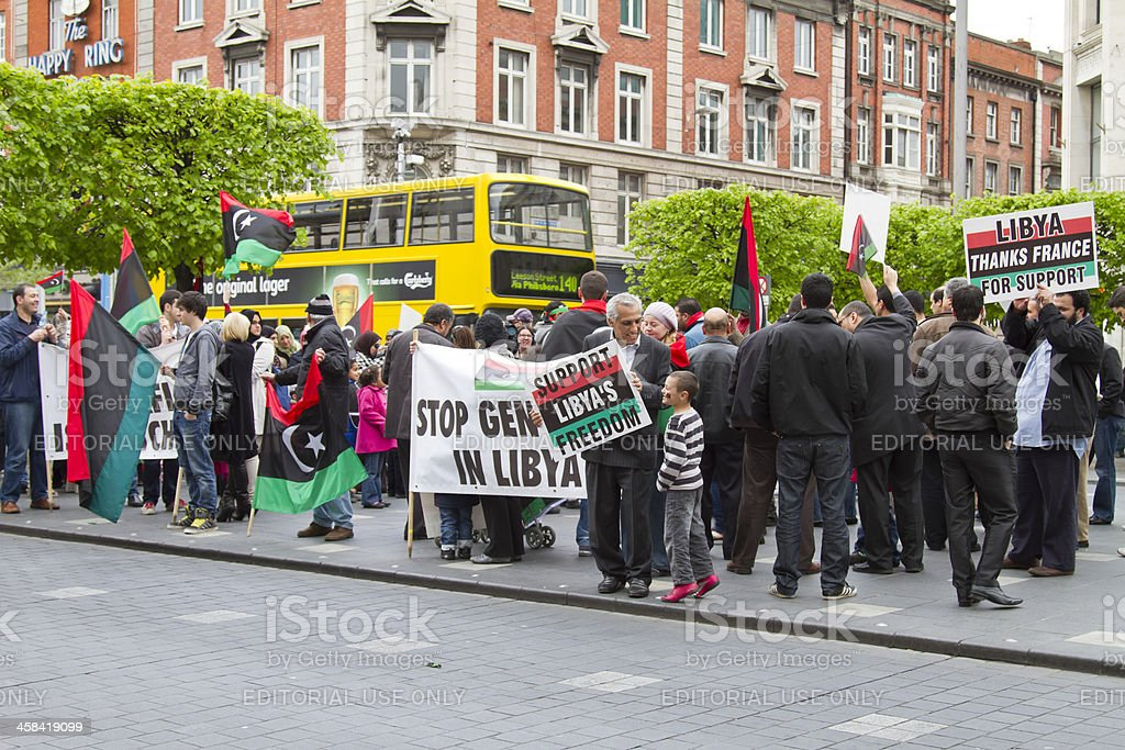 Libyan protest royalty-free stock photo