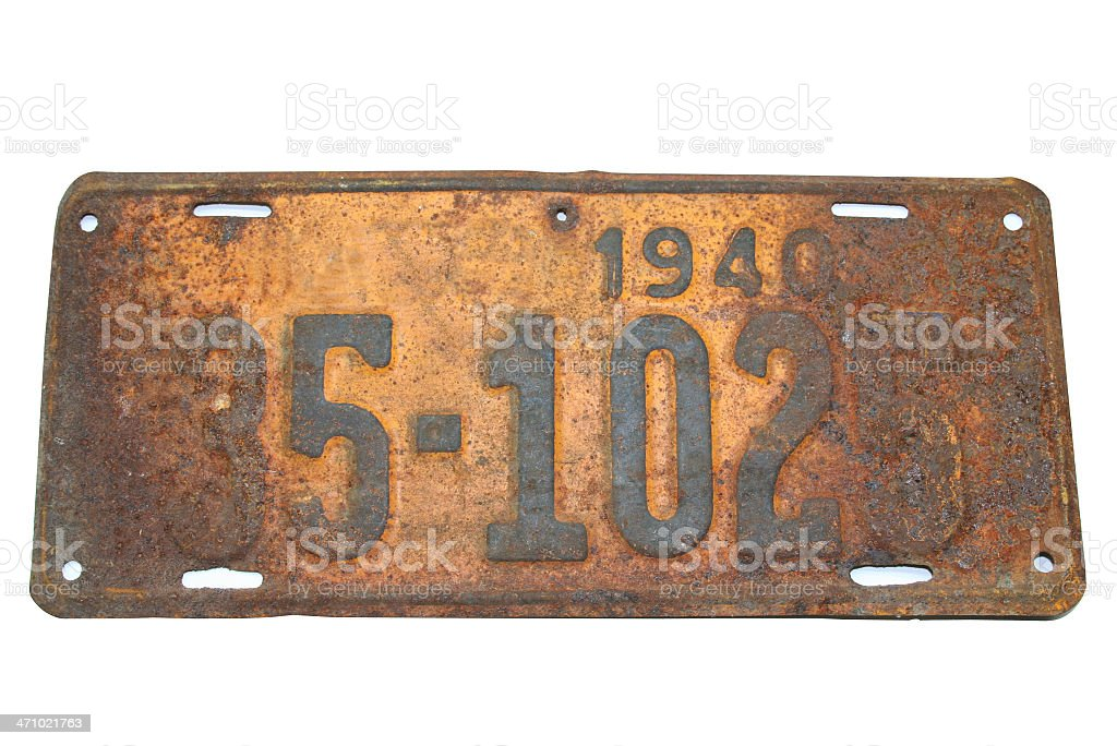 License Plate '1940' royalty-free stock photo