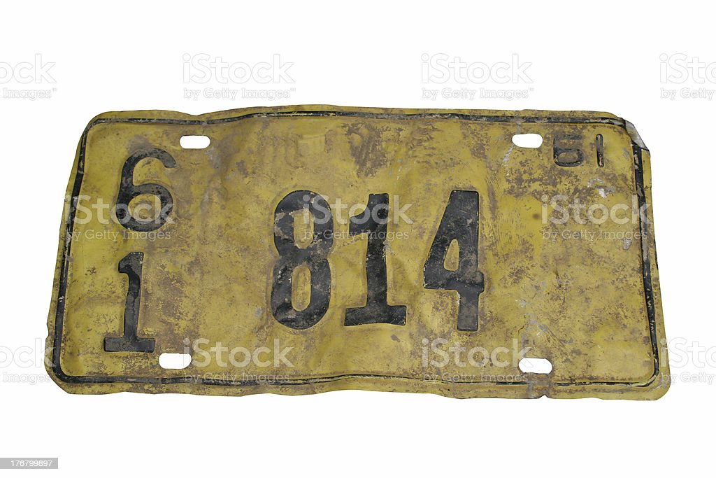 License Plate '1961' royalty-free stock photo