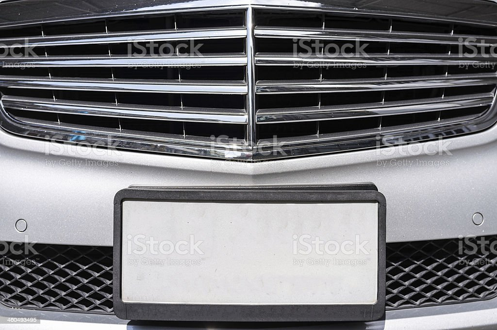 License Plate Closeup stock photo