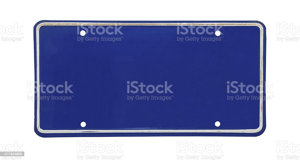 License Plate stock photo